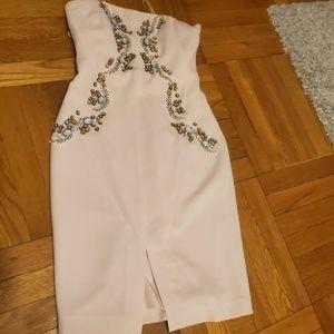 BADGLEY MISCHKA Strapless cocktail dress